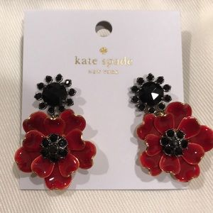 "Just in! 🆕NWT KS ""Precious Poppies"" Drop Earrings"